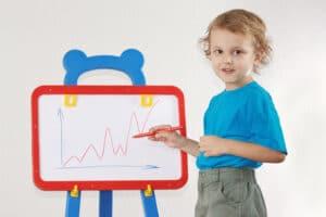 Homeschooler with a white board. Tracing Talent Tutoring, Homeschooling, Preschool